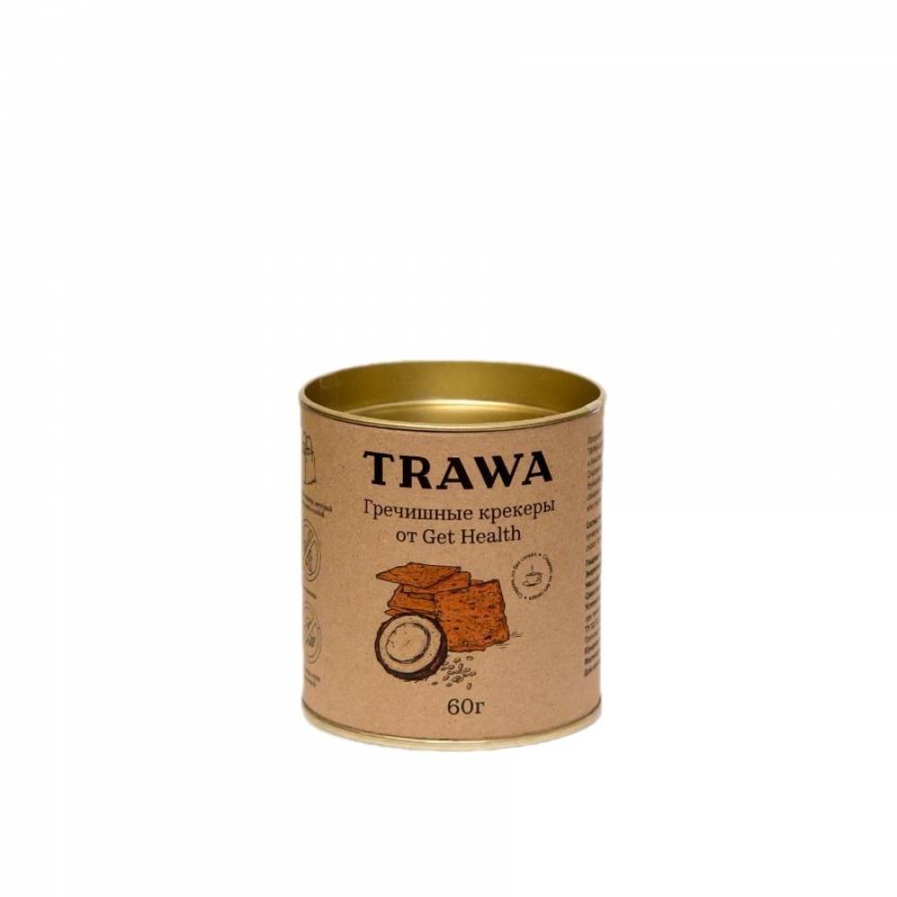 Гречишные крекеры TRAWA от нутрициологов Get Helath сладкие, 60 гр