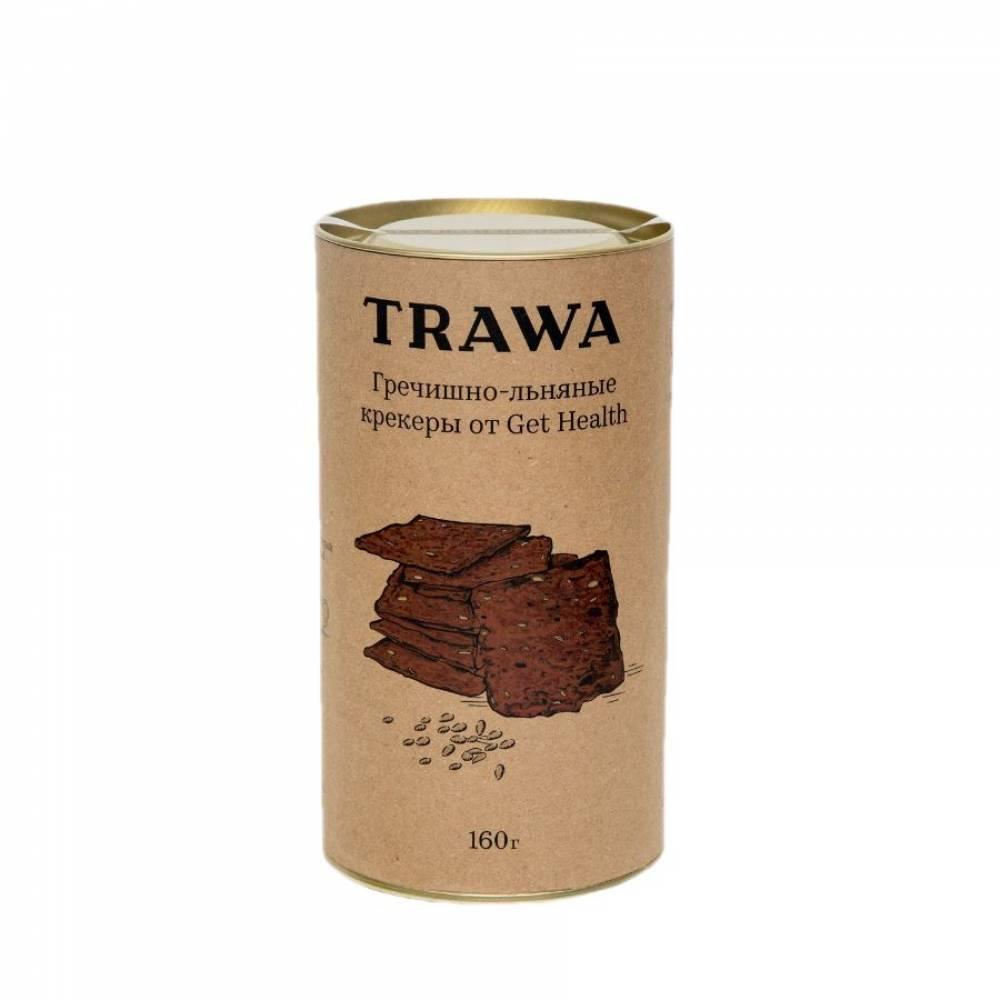 Гречишные крекеры TRAWA от нутрициологов Get Helath сладкие, 160 гр