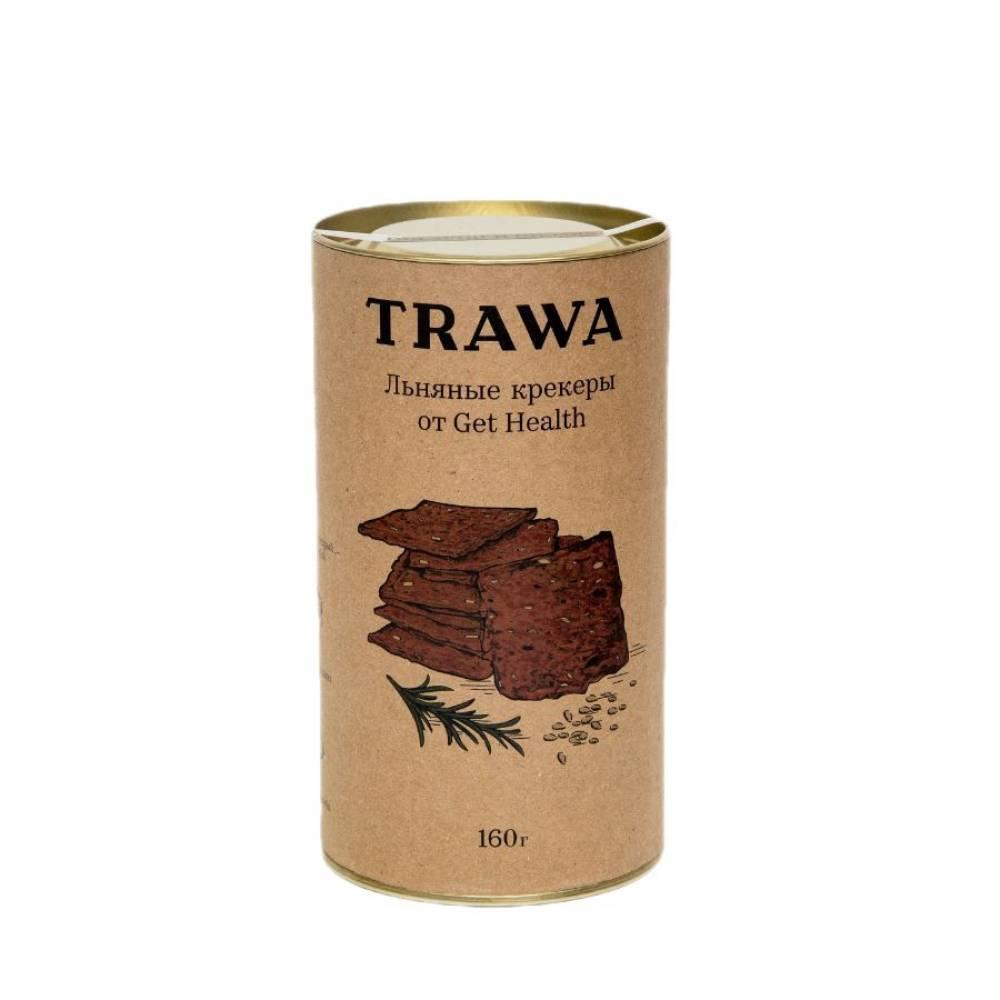 Льняные крекеры TRAWA с розмарином от нутрициологов Get Helath, 160 гр