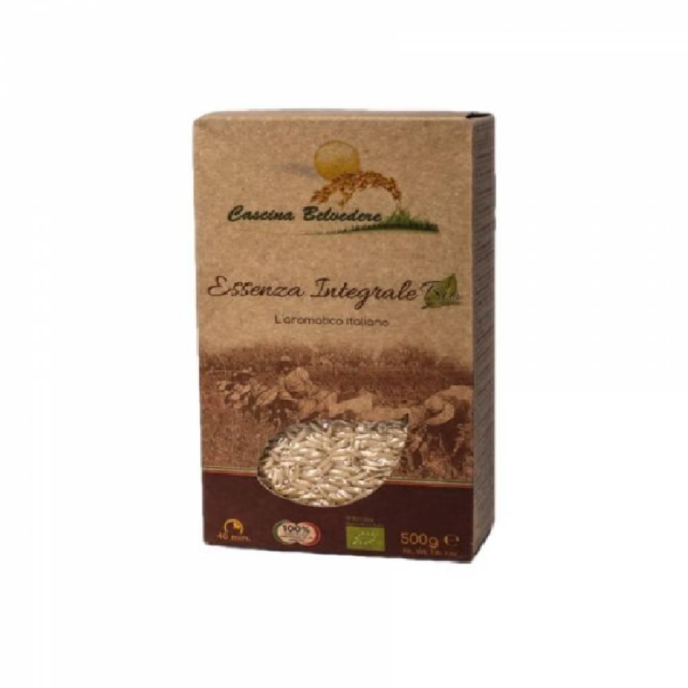 Рис органик без глютена Эссенца коричневый длиннозерновой, Cascina Belvedere, 500 гр