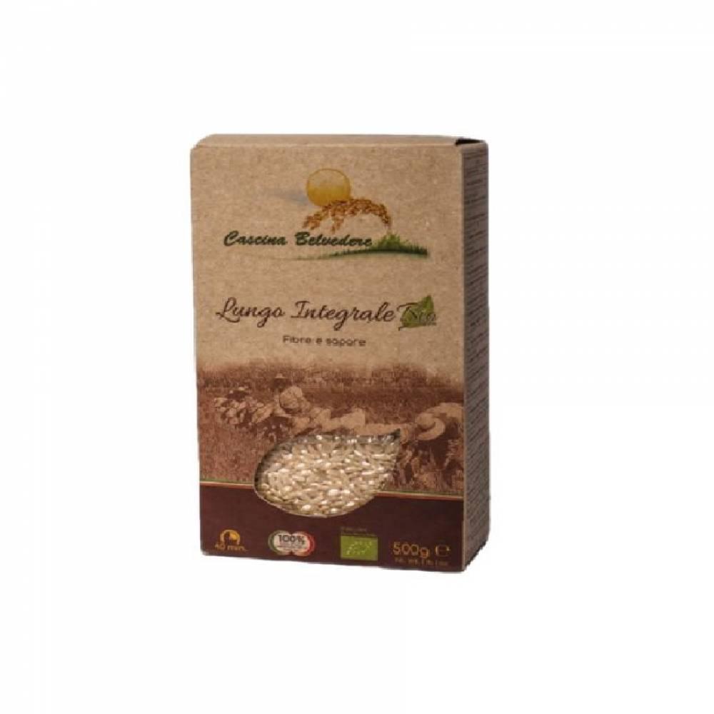Рис органик без глютена Райб коричневый цельнозерновой, Cascina Belvedere, 500 гр