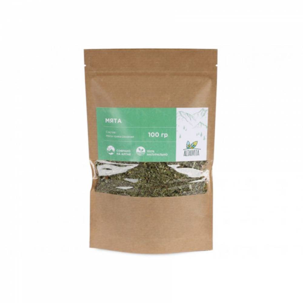 Трава мята Altaivita, 100 гр