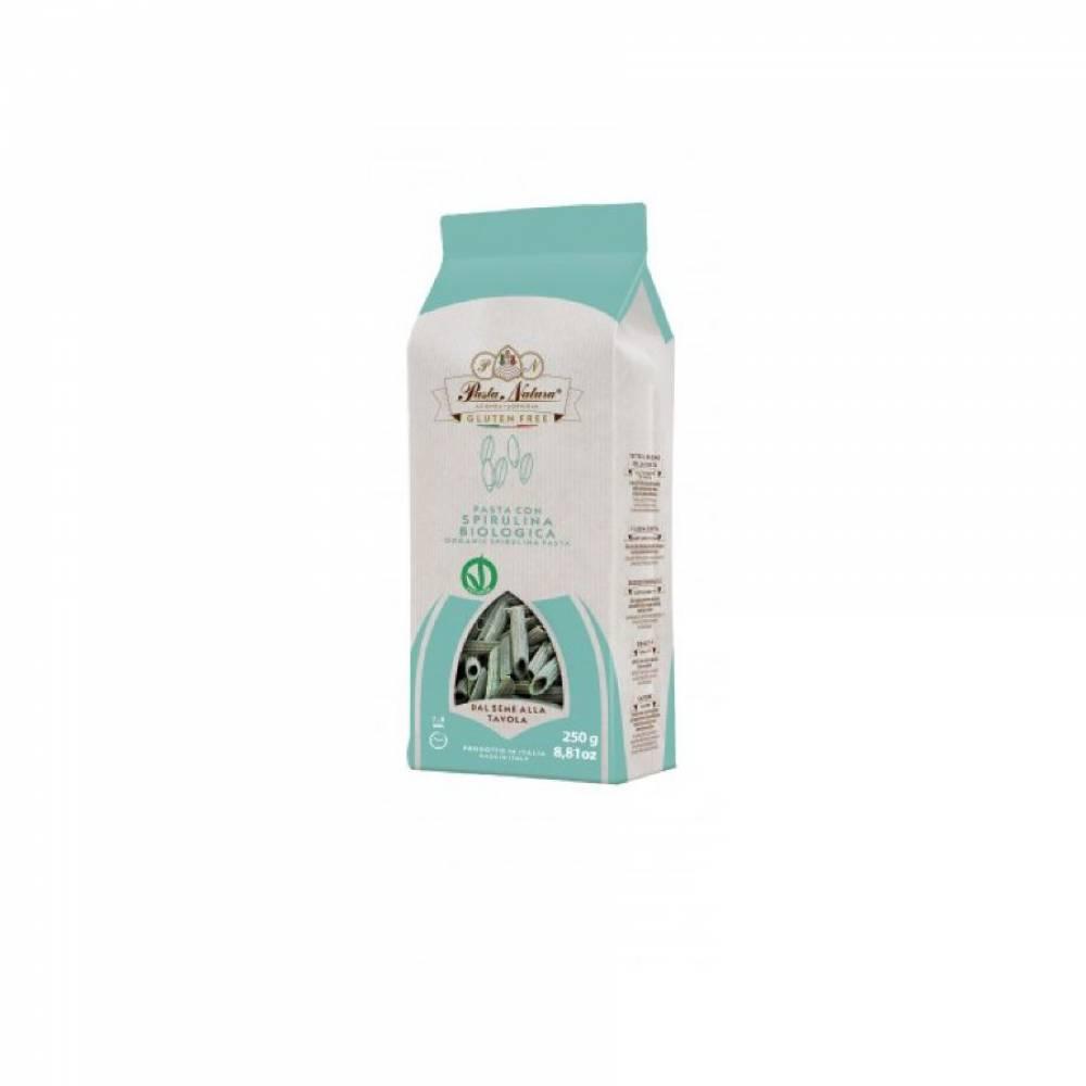 Макароны без глютена из цельнозернового риса со спирулиной Ньокко Сардо Pasta Natura, 250 гр