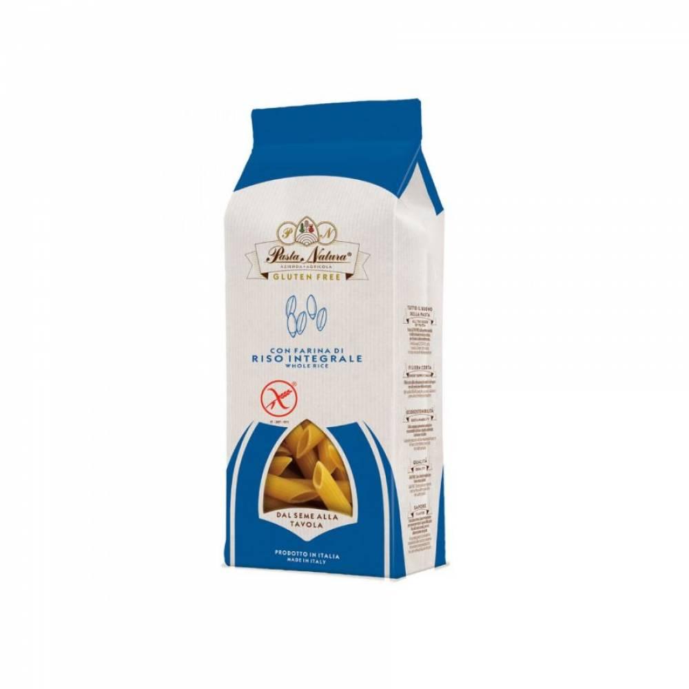 Макароны без глютена из цельнозернового риса Пенне Pasta Natura, 250 гр