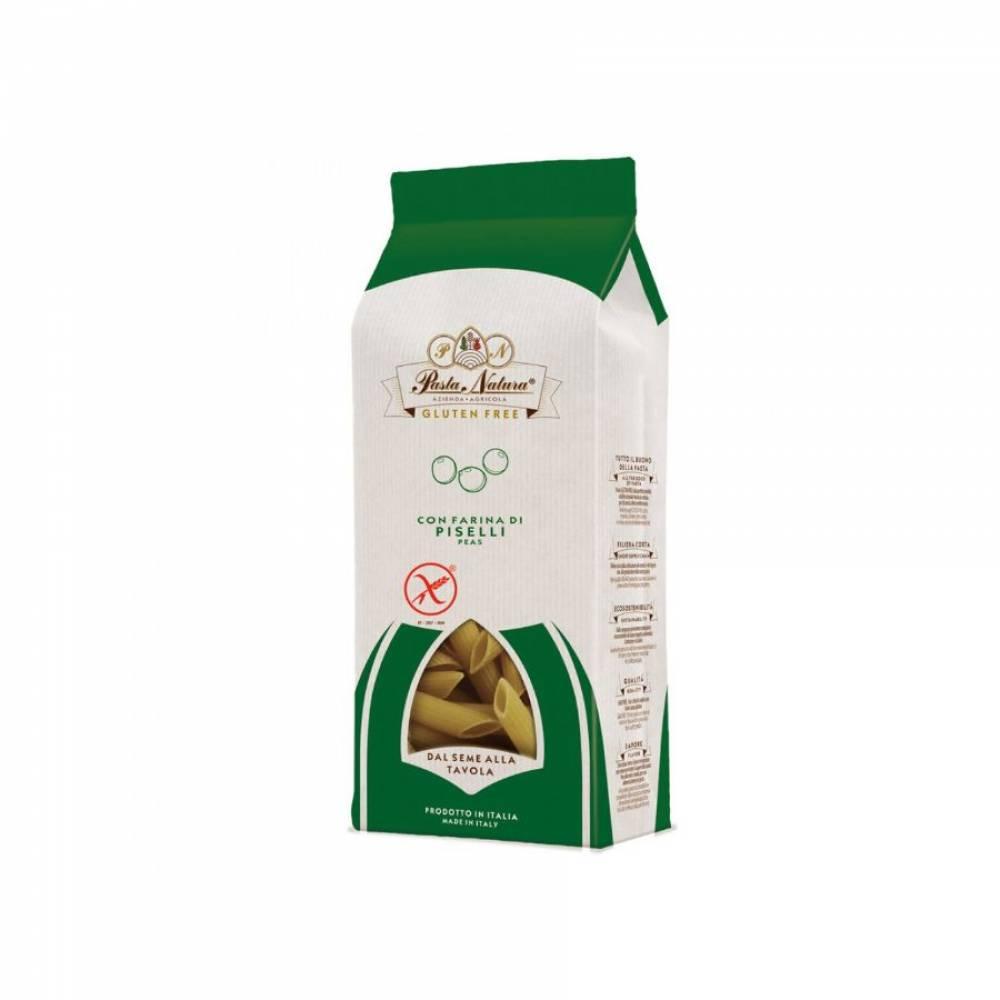 Макароны без глютена из зелёного горошка Пенне Pasta Natura, 250 гр