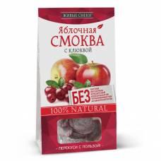 Яблочная смоква с клюквой Живые снеки, 60 гр