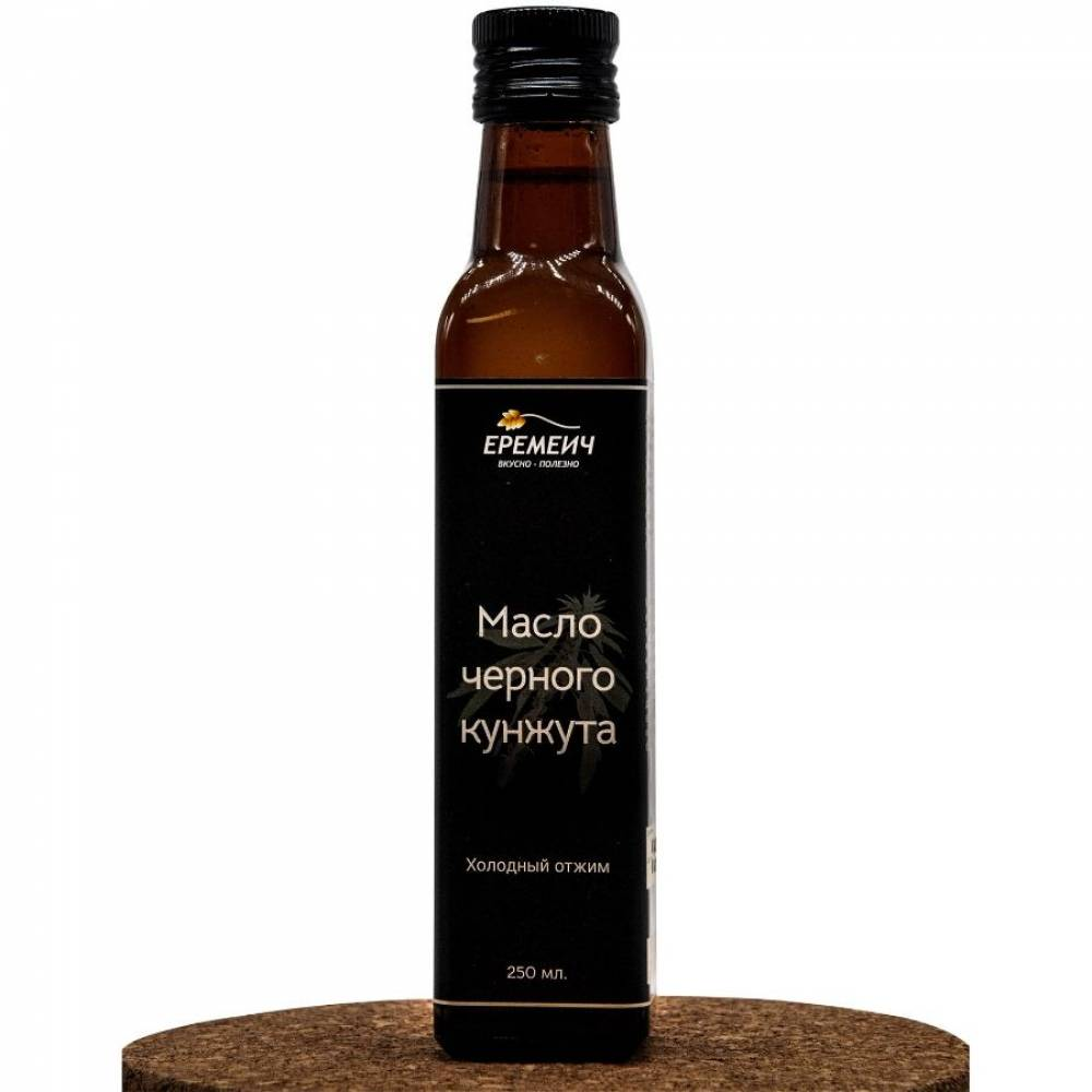 Кунжутное масло холодного отжима из семян черного кунжута ЕРЕМИЧ, 250 мл