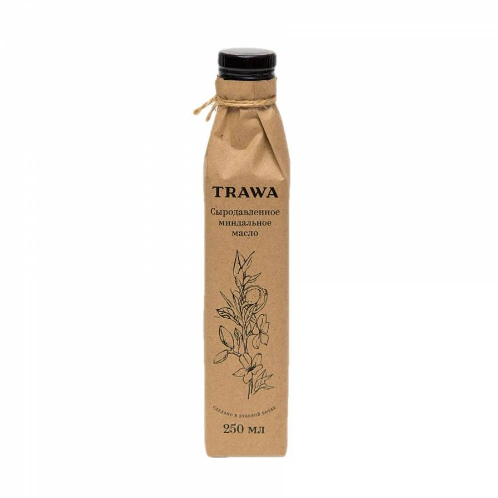 Масло миндальное сыродавленное TRAWA, 250 мл