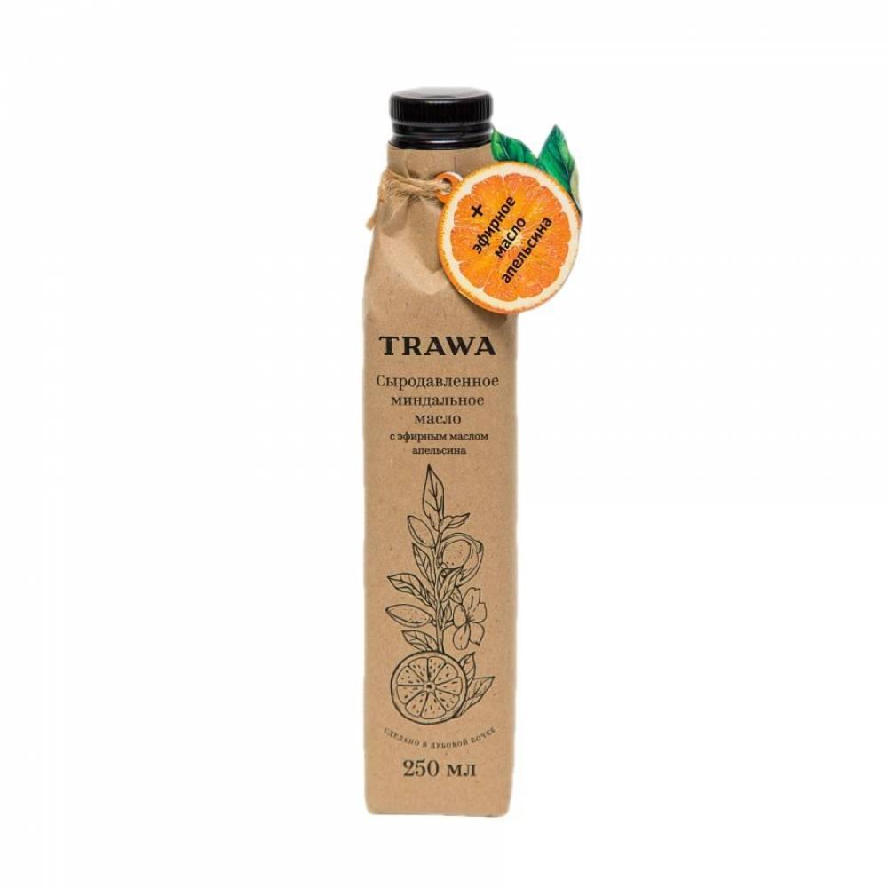 Масло миндальное сыродавленное TRAWA с нотками апельсина, 250 мл
