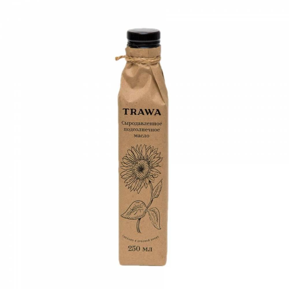 Масло подсолнечное сыродавленное TRAWA, 250 мл