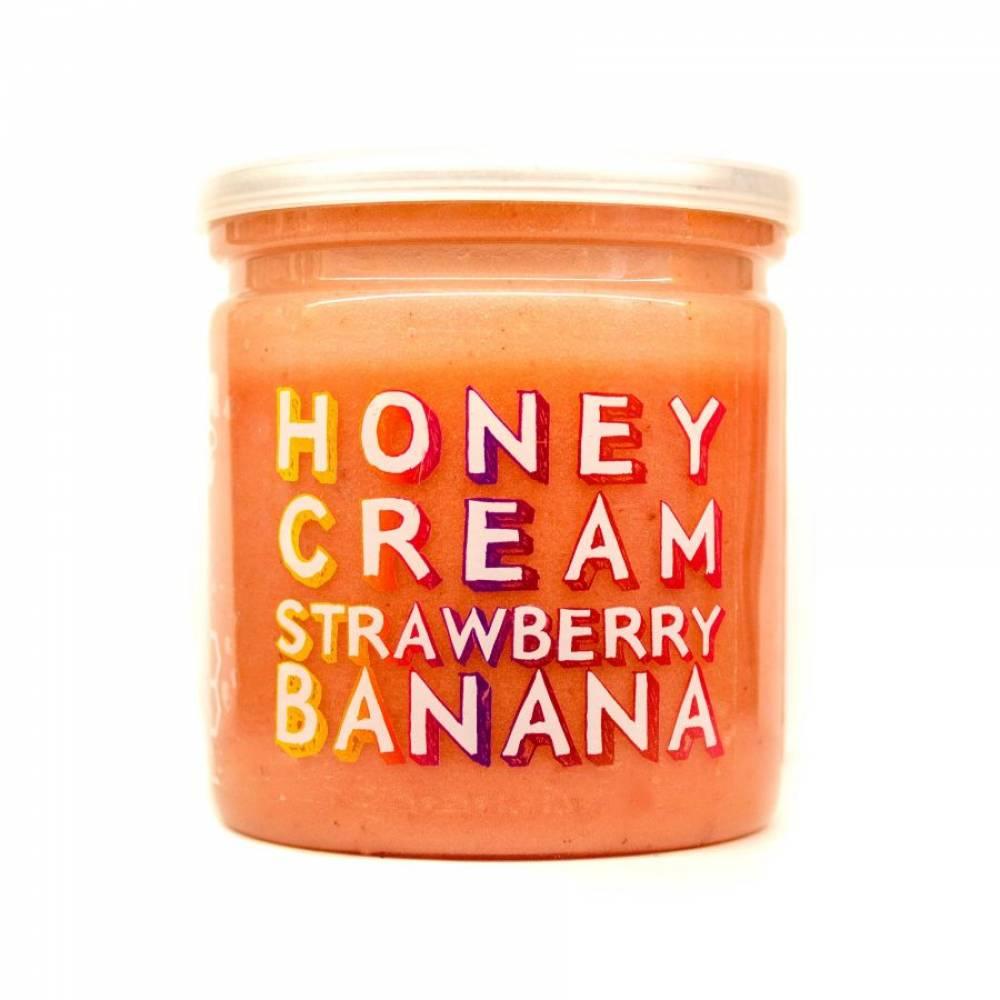 Натуральный крем-мёд клубника-банан, Grizzly Nuts, 230 гр