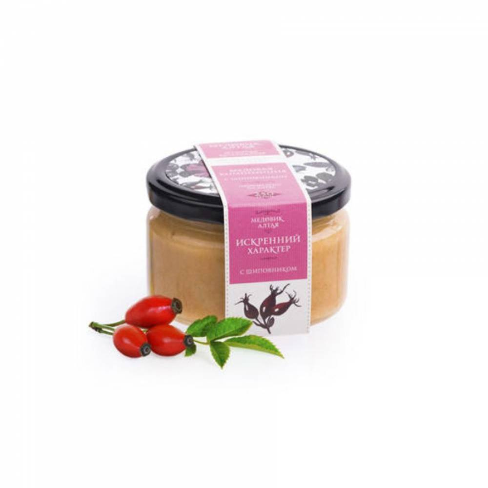 Мёд с шиповником Медовик Алтая, 250 гр