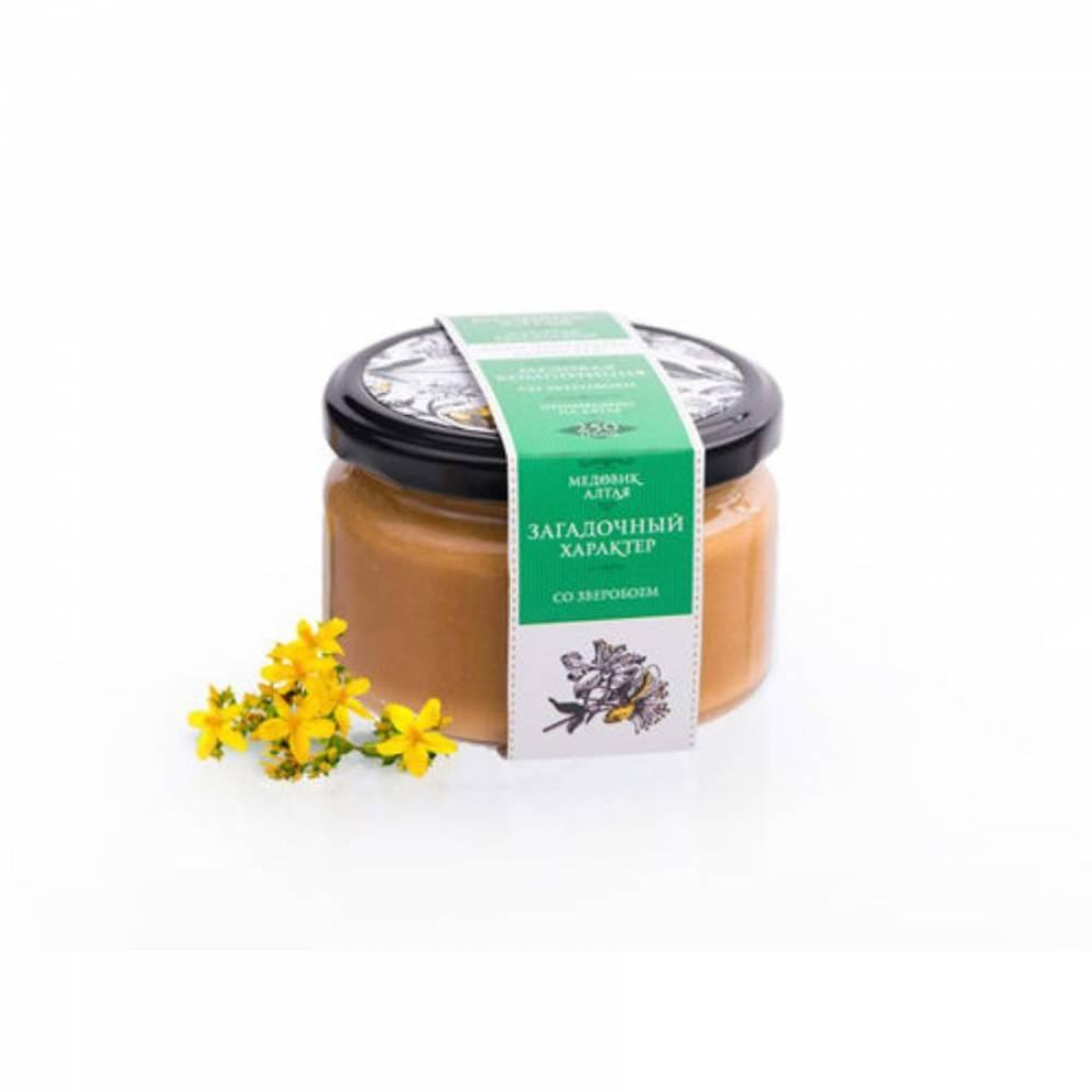Мёд со зверобоем Медовик Алтая, 250 гр