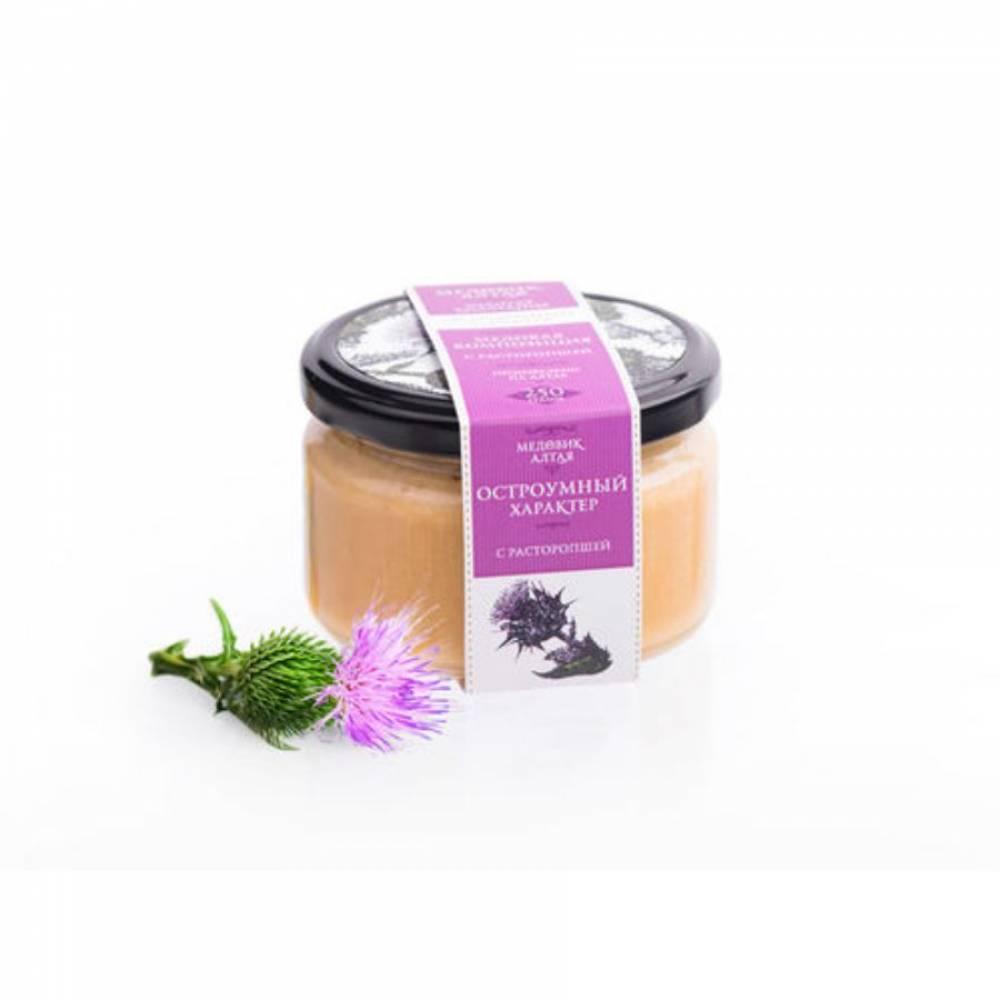 Мёд с расторопшей Медовик Алтая, 250 гр