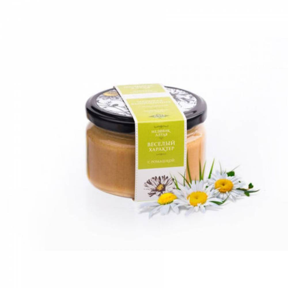 Мёд с ромашкой Медовик Алтая, 250 гр