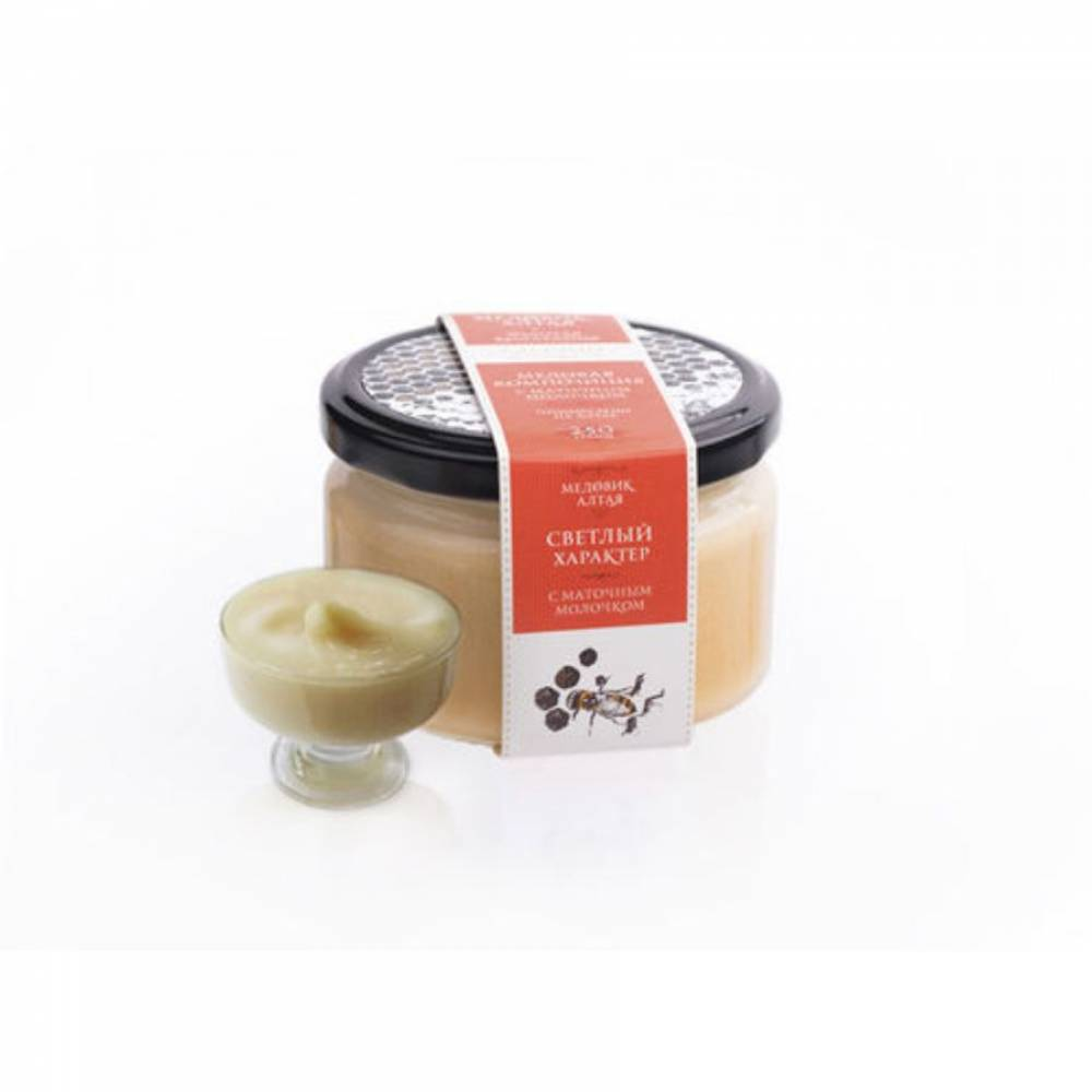 Мёд с маточным молочком Медовик Алтая, 250 гр