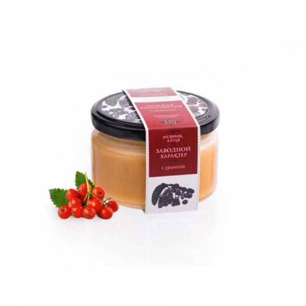 Мёд с рябиной красной Медовик Алтая, 250 гр