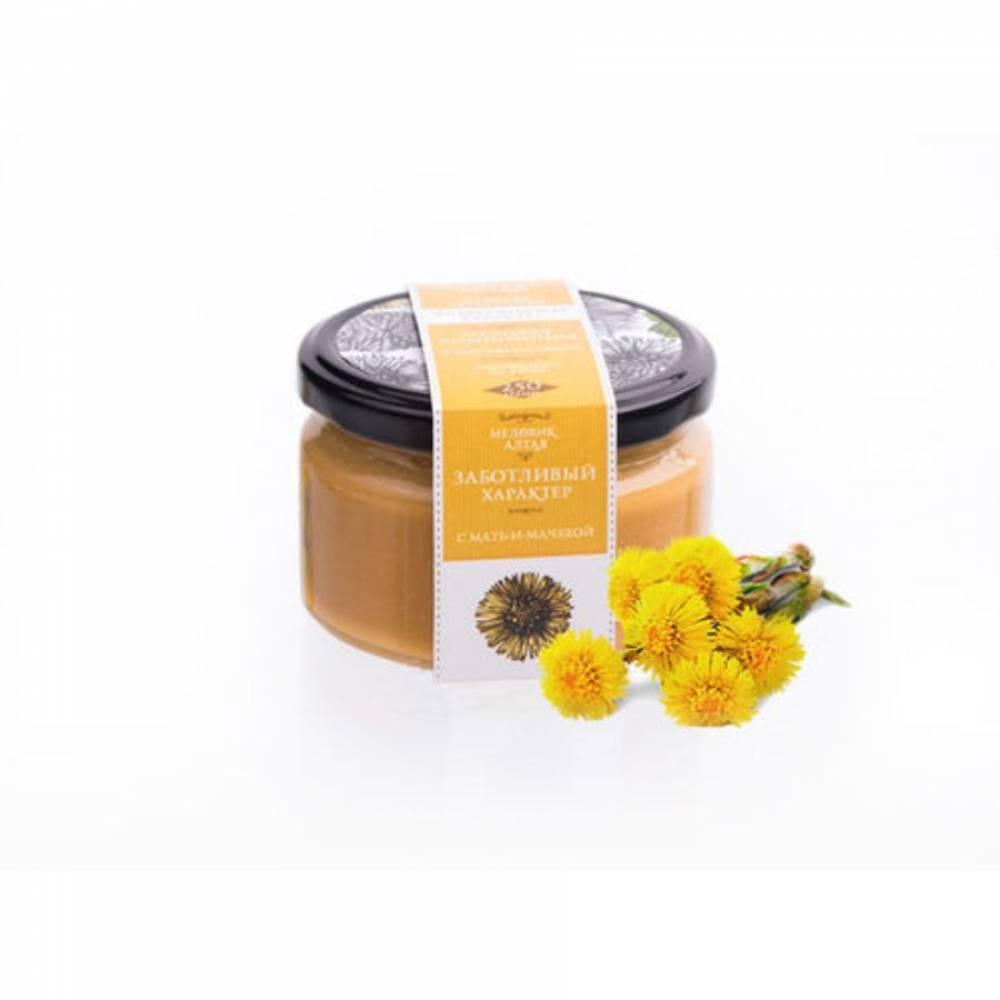 Мёд с мать-и-мачехой Медовик Алтая, 250 гр