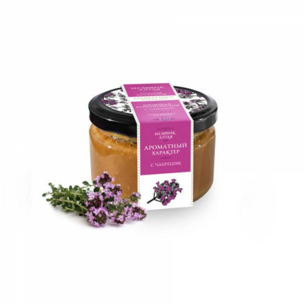 Мёд с чабрецом Медовик Алтая, 250 гр