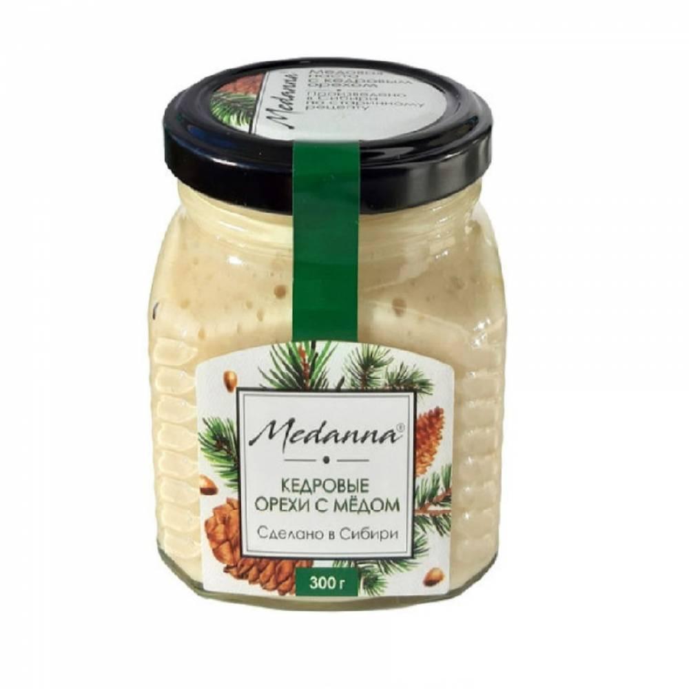 Медовая паста Medanna с кедровым орехом Медовик Алтая, 300 гр