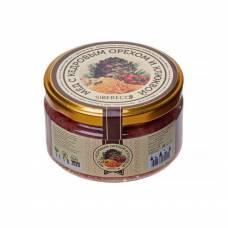 Мёд с кедровым орехом и клюквой SIBERECO, 220 мл