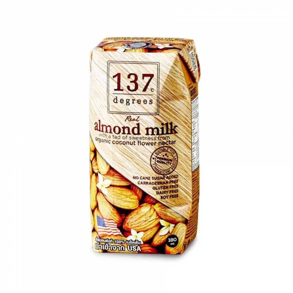 Миндальное молоко с нектаром кокосовых соцветий 137 Degrees, растительное молоко, 180 мл