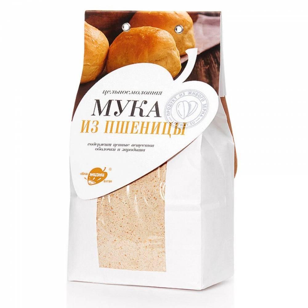 Мука пшеничная цельнозерновая Образ жизни, 500 гр