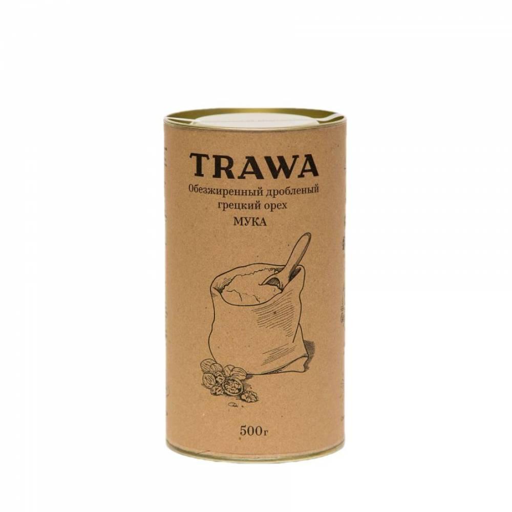 Мука грецкого ореха TRAWA из обезжиренного и дробленого грецкого ореха, 500 гр