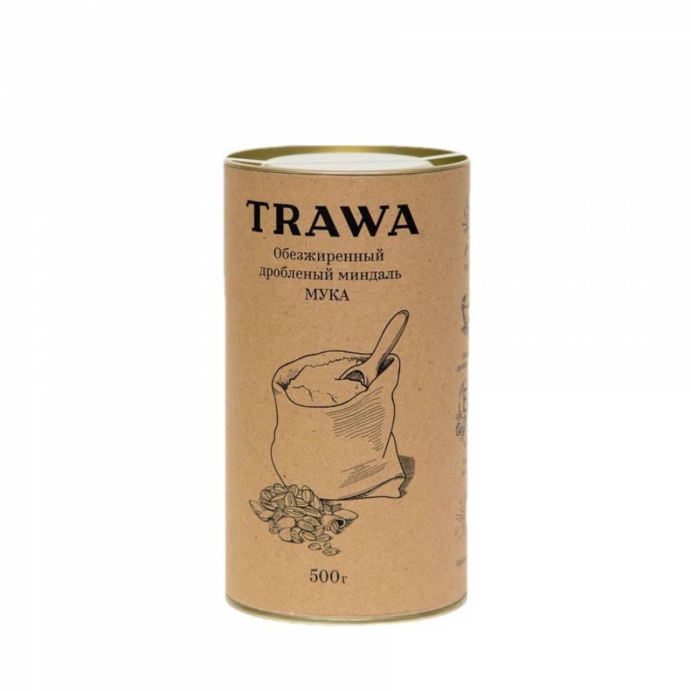 Миндальная мука TRAWA из обезжиренного и дробленого миндального ореха, 375 гр