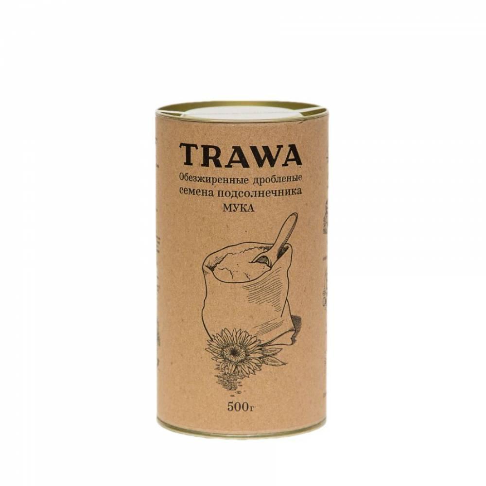Подсолнечная мука TRAWA из обезжиренной и дробленой подсолнечной семечки, 500 гр