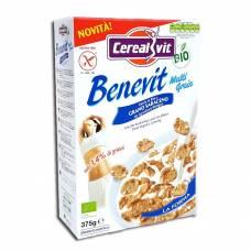 Хрустящие гречнево-рисовые хлопья без глютена Беневит, Cerealvit, 375 гр