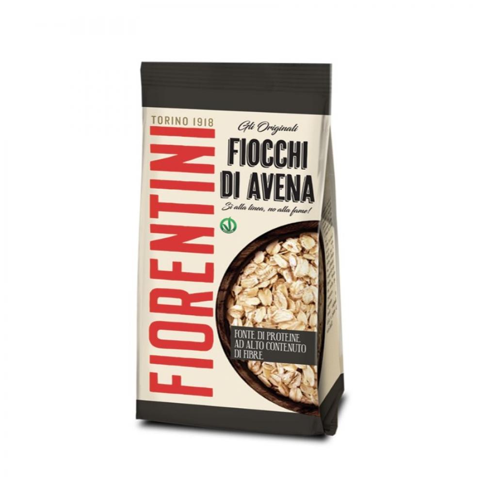 Хлопья овсяные крупного размера с высоким содержанием клетчатки и протеинов, Fiorentini, 500 гр