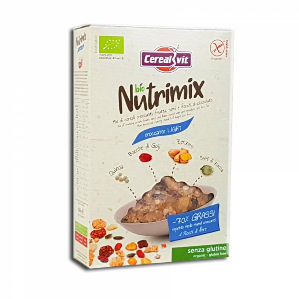 Хрустящие мюсли Нутримикс Лайт без глютена со злаками, фруктами, семенами и шоколадом, Cerealvit, 250 гр