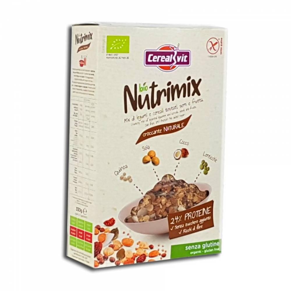 Хрустящие мюсли Нутримикс без глютена со злаками, фруктами и семенами, Cerealvit, 330 гр