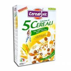 Хрустящие хлопья из 5 злаков с Омега-3 и селениумом, Cerealvit, 250 гр