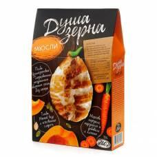 Мюсли с морковью и тыквой из пророщенной полбы Образ жизни глазированные яблочным соком, 260 гр