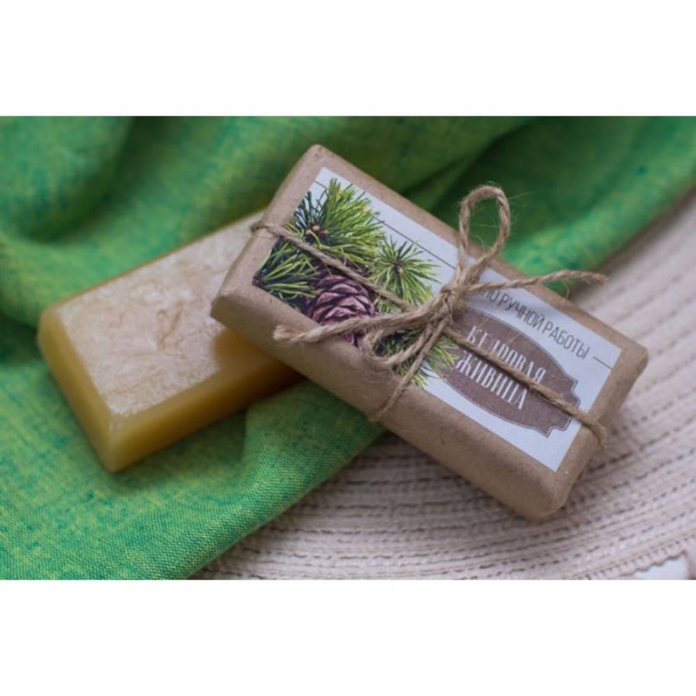 Мыло ручной работы Altaivita, на основе кедровой живицы, 85 гр