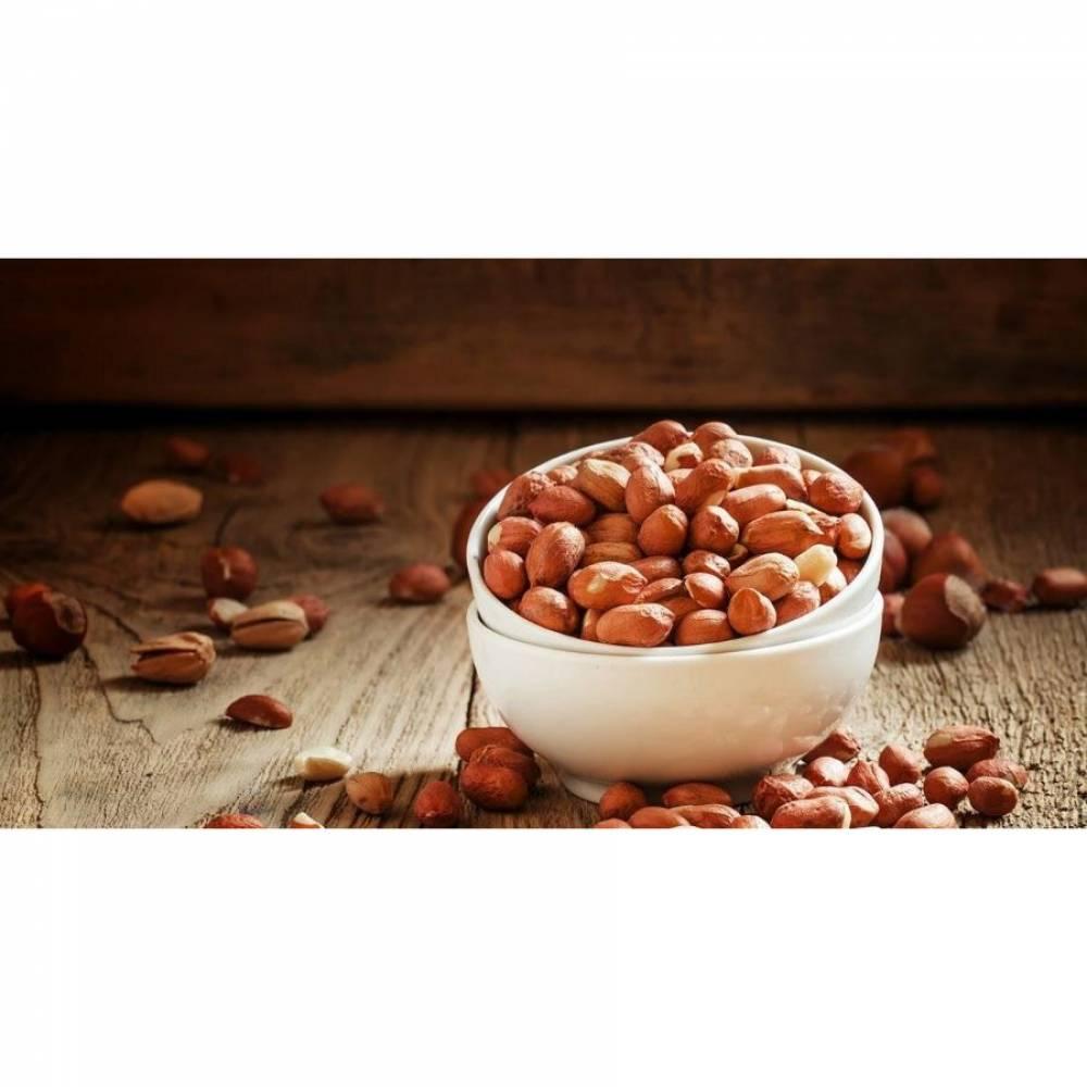 Арахис очищенный, сырой, орехи, 500 гр