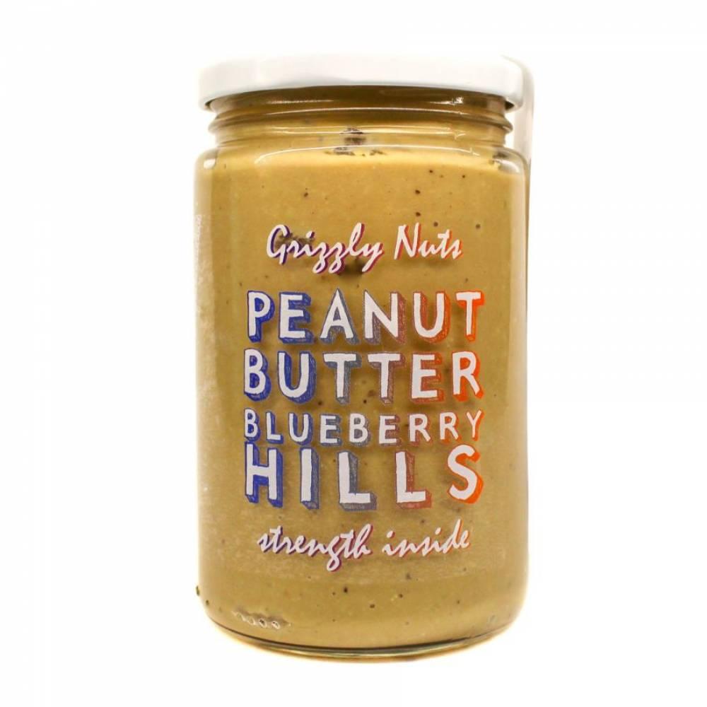 Арахисовая паста черничная с медом Blueberry Hills, Grizzly Nuts, 370 гр