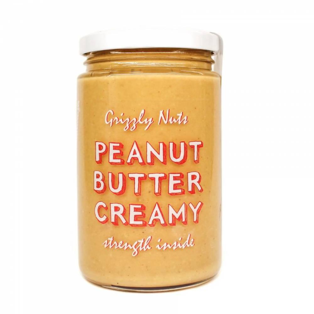 Арахисовая паста кремовая Creamy, Grizzly Nuts, 370 гр