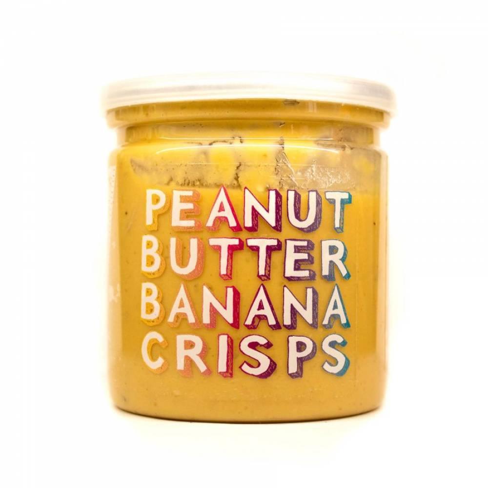 Арахисовая паста с банановыми чипсами и медом Banana Crisps, Grizzly Nuts, 200 гр