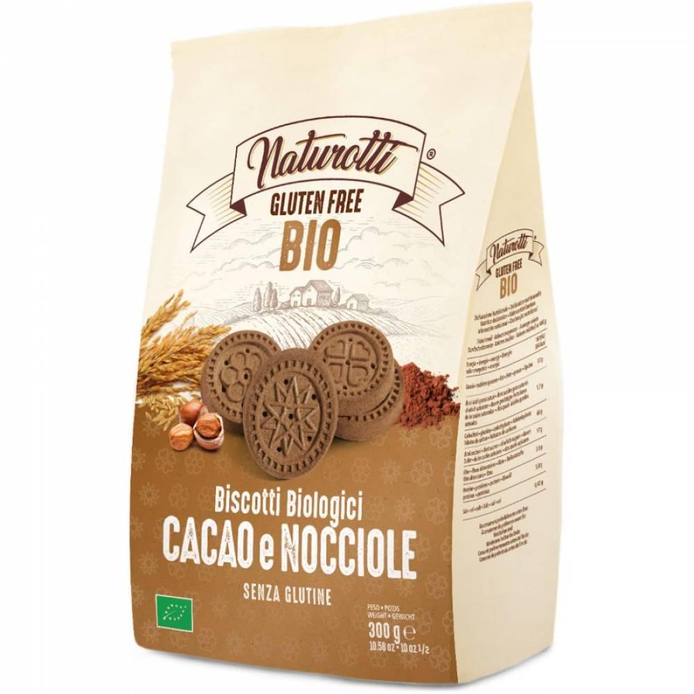 Печенье Био с Какао и Фундуком без глютена, Naturotti, 300 гр