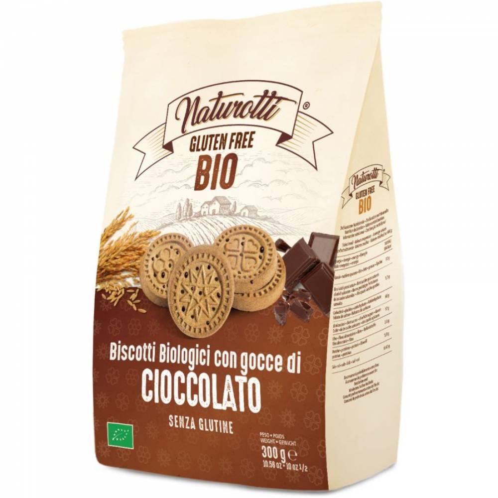 Печенье Био с Шоколадными каплями без глютена, Naturotti, 300 гр