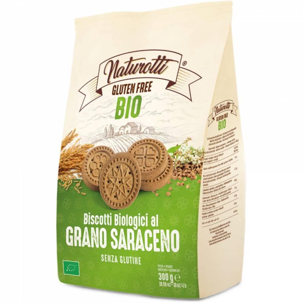 Печенье Био из Гречихи без глютена, Naturotti, 300 гр