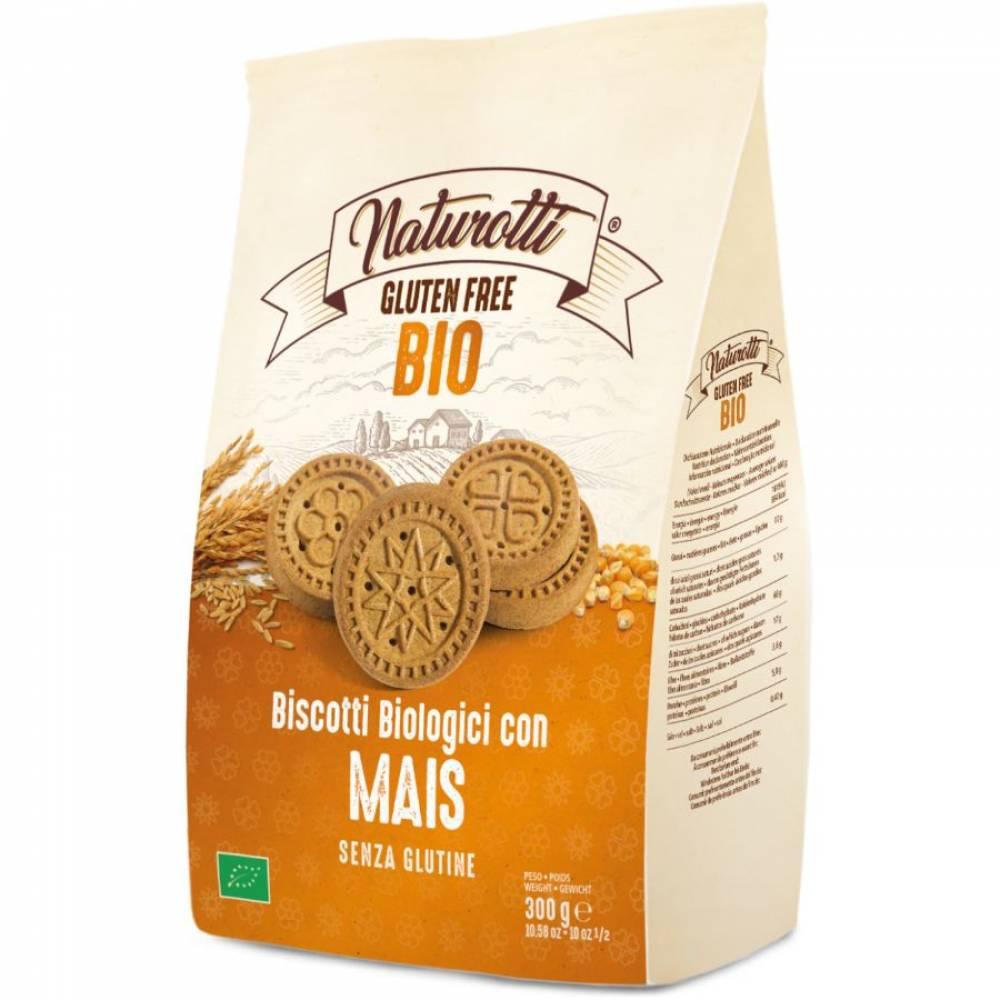 Печенье Био Кукурузное без глютена, Naturotti, 300 гр