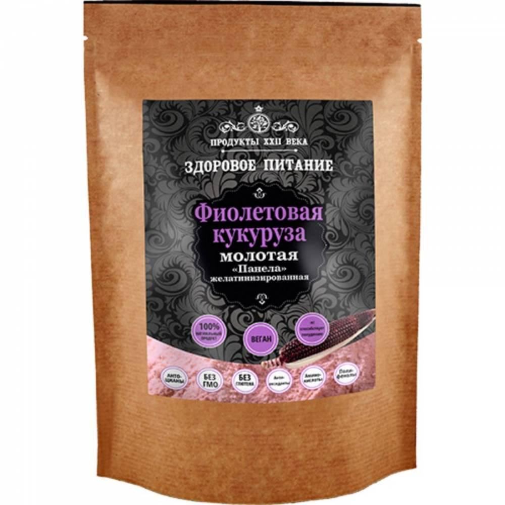 Фиолетовая кукуруза Продукты XXII века, молотая быстрого приготовления Панела, 100 гр