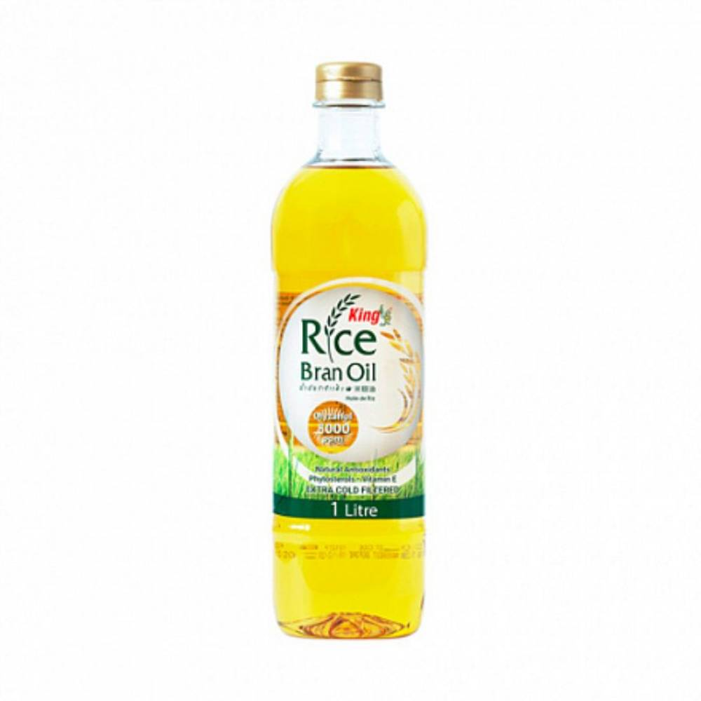 Рисовое масло из рисовых отрубей KING, 1000 мл