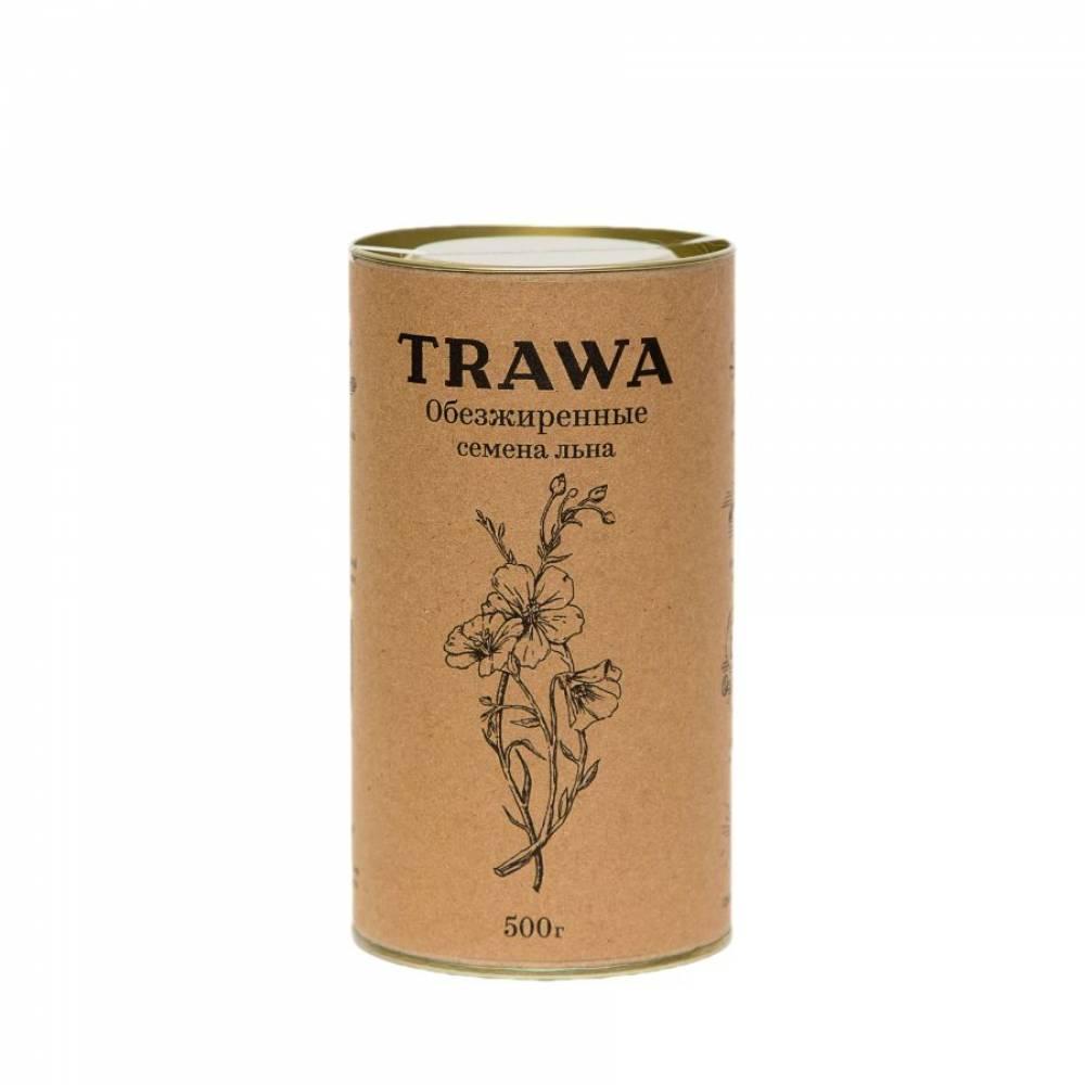 Обезжиренная льняная семечка TRAWA, 500 гр