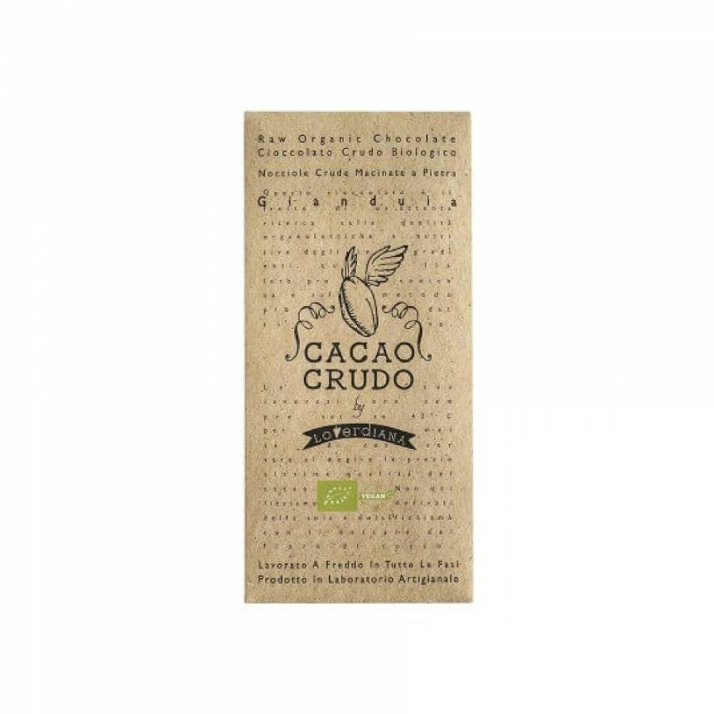 Шоколад Органик Премиум из 50% какао-пасты из необжаренных какао-бобов без глютена Джандуя, Cacao Crudo, 50 гр