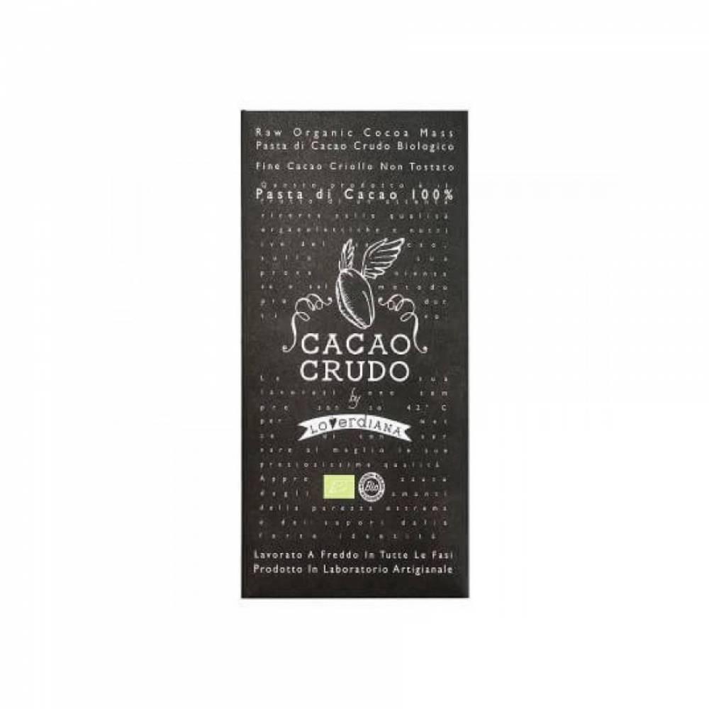 Шоколад Органик Премиум из 100% какао-пасты из необжаренных какао-бобов без глютена, Cacao Crudo, 50 гр